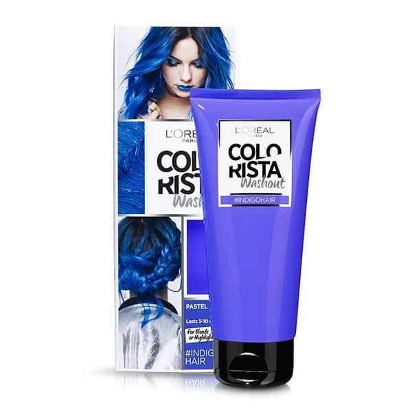 Colorista Washout Indigo Blue Semi-Permanent Hair Dye | Superdrug