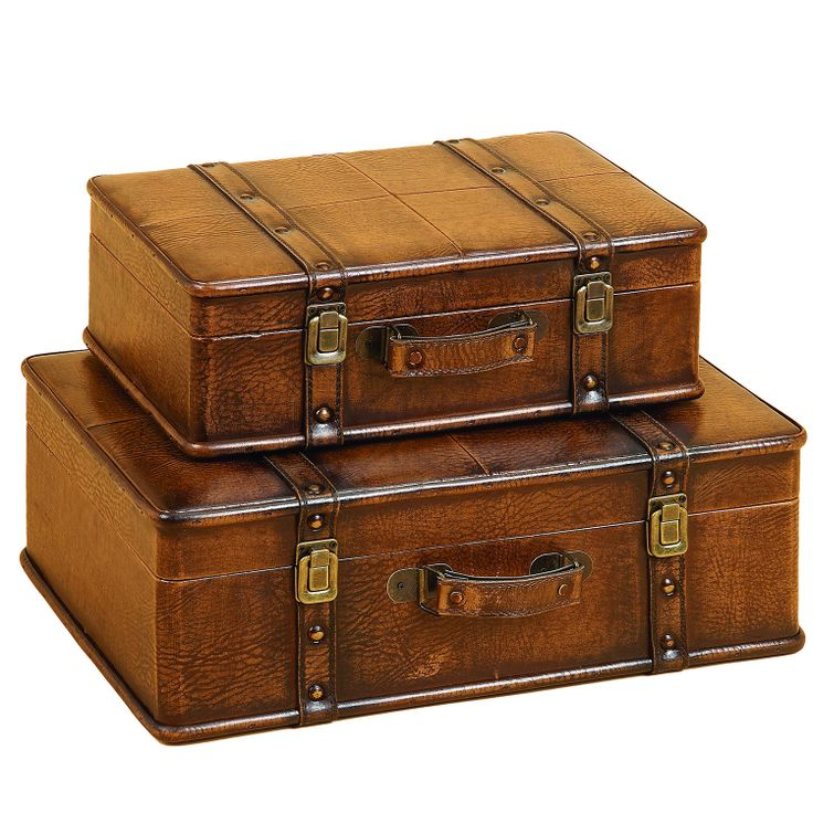 These gorgeous, antique-looking decorative leather trunks are a great way to create extra storage and add a unique design element to your space. These trunks, from Casa Cortes, are ideal for traditional, transitional, and eclectic spaces.