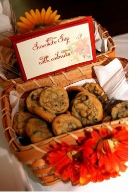 wedding cookie table favors-I love this idea and it could be really cheap too! I found this in a site that you had already posted but wanted to pull it out since I loved it so much!