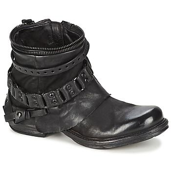 A.S.98 / Airstep COLA Black Ankle Boots