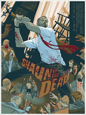 Rich Kelly Shaun of the Dead Movie Poster Release By Mondo... #Arsetculture #Inside_the_Rock_Poster_Frame #Gig_Posters