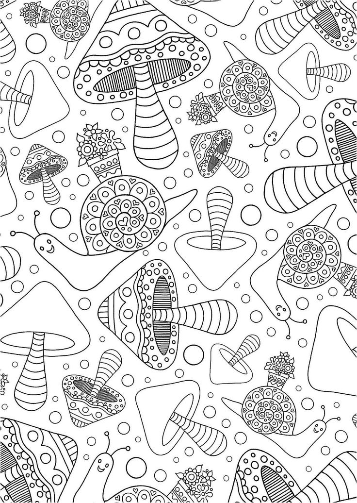 95 best mushrooms toadstools coloring pages for adults Coloring books for adults on amazon