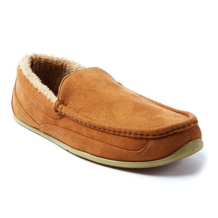 Deer Stags Spun Men's Slippers, Size: medium (10), Brown