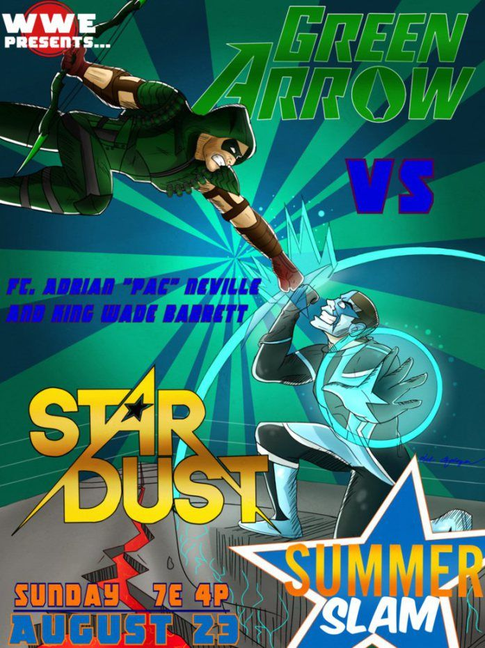 Stardust vs. Stephen Amell (Arrow) - SummerSlam 2015