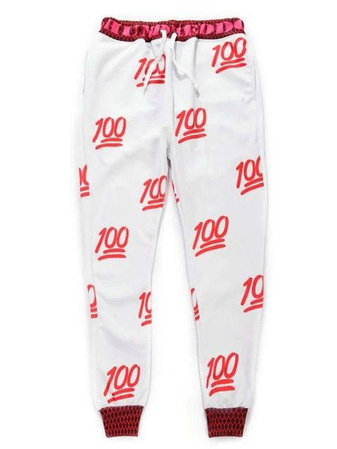 Emoji Joggers Pants 100 Emoji Joggers Cheap Red Pants for Men/Women
