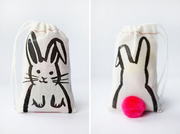 Printable Iron-on Bunny Bags   Oh Happy Day!