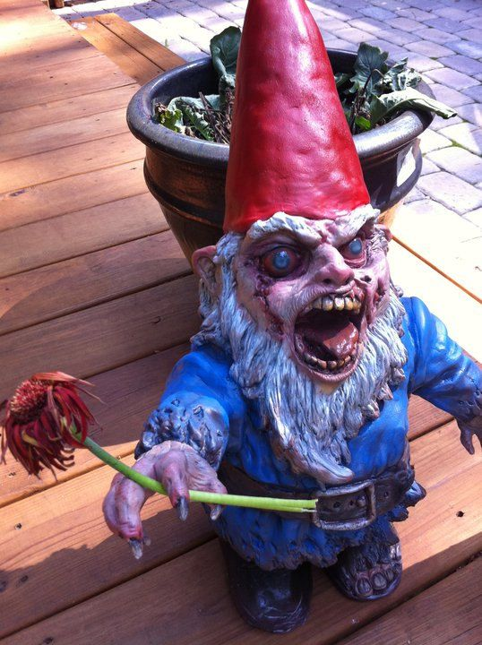 wish this wasn't so expensive so the hubby and his friends could have target practice in prep for the zombie invasion...lol...gnombies you make me giggle