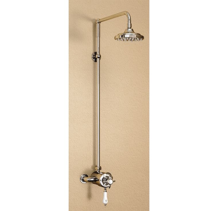 Burlington Wye Anglesey Exposed Shower Valve Pole Set With 6 Inch Rose