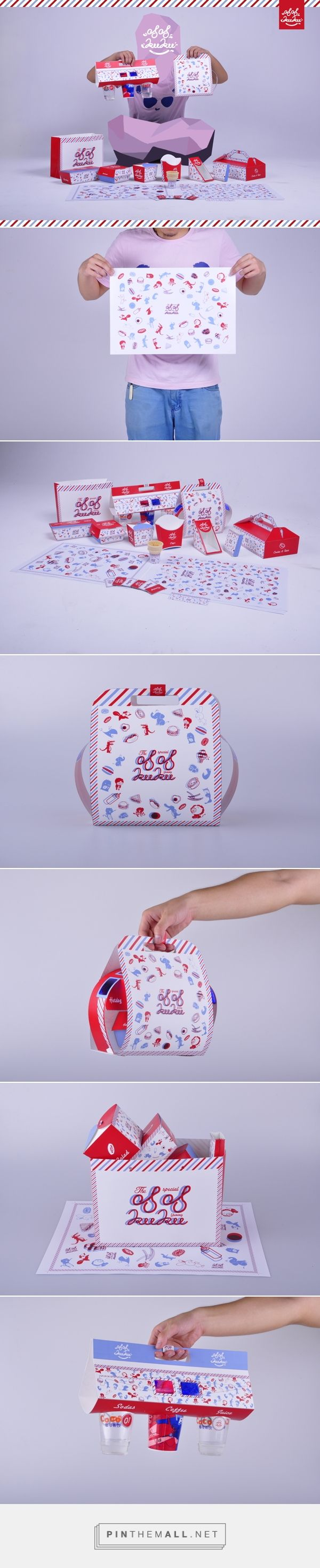 KuKu Fastfood Packaging by Boyang Xu on Behance curated by Packaging Diva PD. Concept of looking at packaging through colored glasses.
