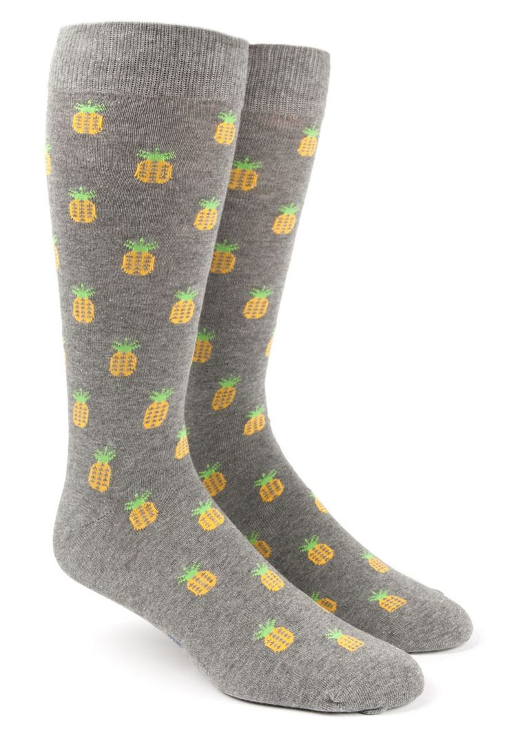 PINEAPPLE SOCKS - GRAY | Ties, Bow Ties, and Pocket Squares | The Tie Bar