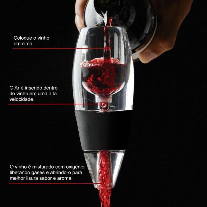 Aerador de Vinho Decantador Magic Decanter Supermercado Digital