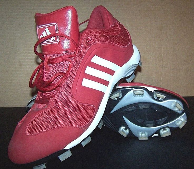 ADIDAS BASEBALL CLEAT Shoes Sample G05911 Men's sz 14 Red Cleats #adidas
