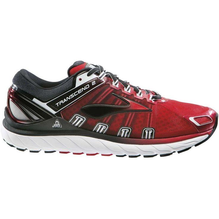 Chaussures de Running BROOKS TRANSCEND 2 Rouge et Noire pour Homme - Boutique Marathon