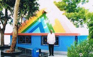 Gouthami Pyramid Meditation Center year of construction : 2012 size : 18ft x 18ft (land pyramid) | capacity : 30 persons cost incurred :  6.5 lakhs | type of structure : RCC timing : 5AM-10PM, open for public use technical support : Rama Rao Khammam contact : Surabhi Diwakar Rao address : H.no 29-6-59, Gouthami nagar, fertilizer city, Ramagundam (mandal) http://pyramidseverywhere.org/pyramids-directory/telangana/karimnagar-district