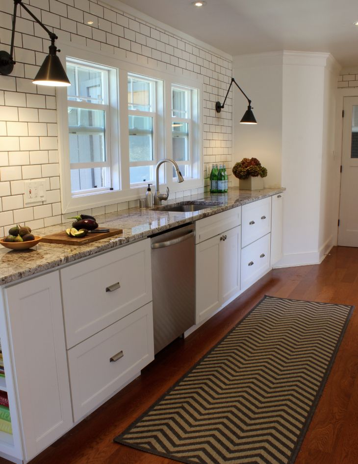 Subway Tile Kitchen: Watson Road Project Sonoma County Kitchen Remodel. Floor