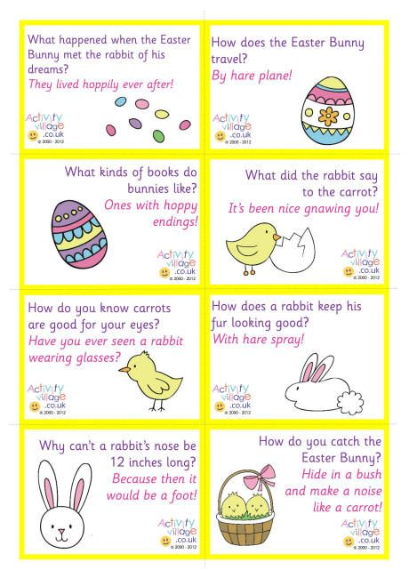 Lunch box notes - Easter jokes