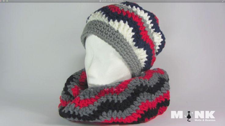 Schals & Loops häkeln - MONK Wolle & Beanies - kostenlose Häkelanleitungen