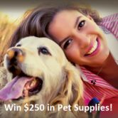 $250 Pet Supply Store Gift Card Giveaway  Open to: United States Ending on: 09/30/2017 Enter for a chance to win a $250 Pet Supply Store gift card. Enter this Giveaway at Pet Supply Store  Enter the $250 Pet Supply Store Gift Card Giveaway on Giveaway Promote.