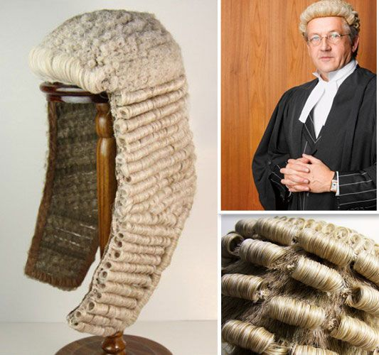 A website for elaborately handmade barrister's wigs
