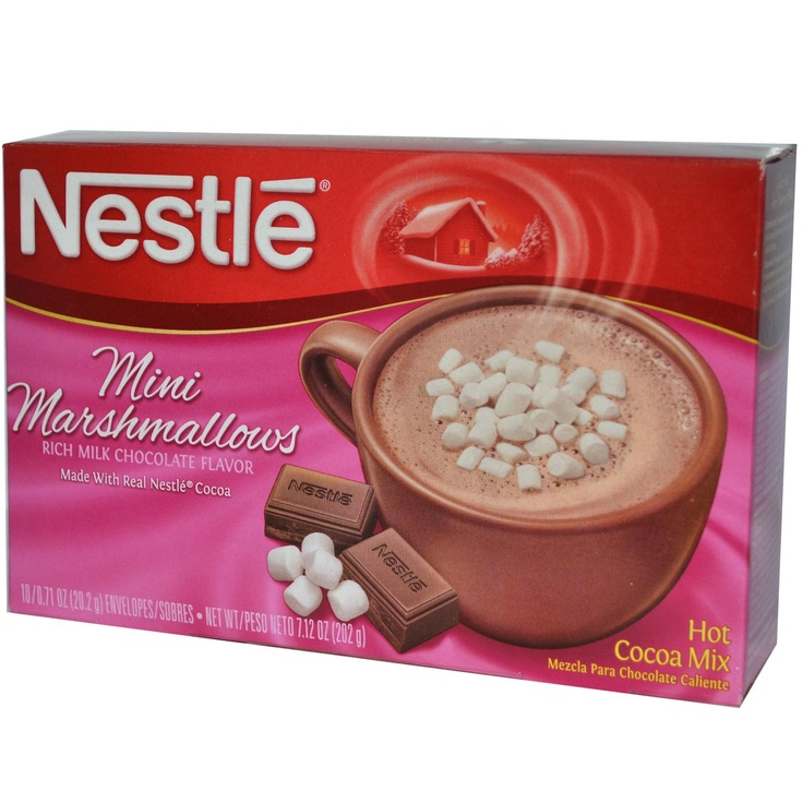 Nestle Hot Cocoa Mix, Mini Marshmallows, Rich Milk Chocolate Flavor, 10 Envelopes, 0.71 oz (20.2 g) Each - iHerb.com