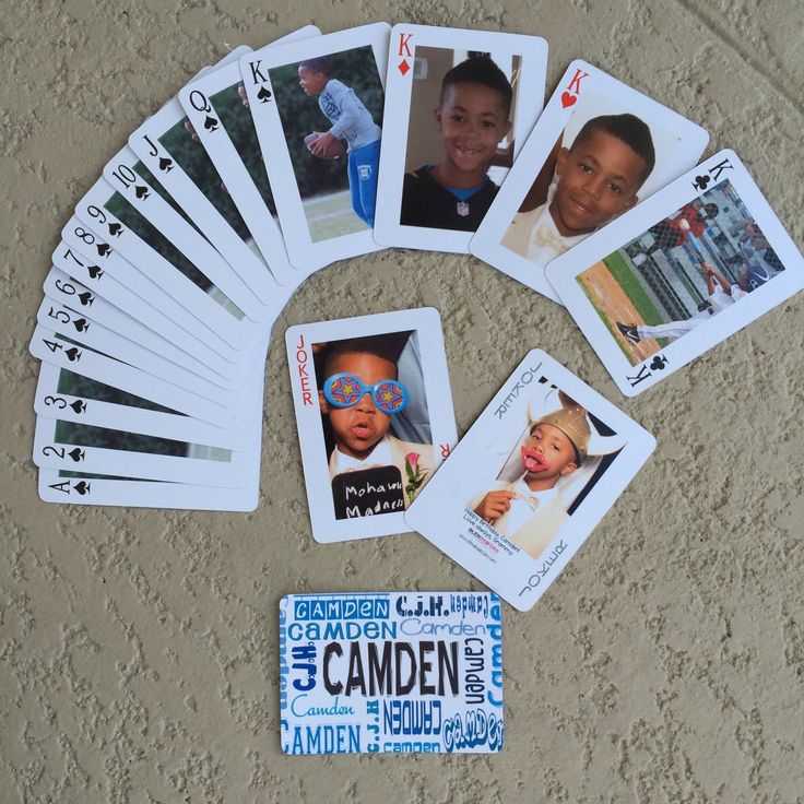 Photo Poker or Pinochle Playing Cards, Personalized Decks of Cards, Customized Playing Cards with Photos by BlendedDesignsLLC on Etsy https://www.etsy.com/listing/209650001/photo-poker-or-pinochle-playing-cards