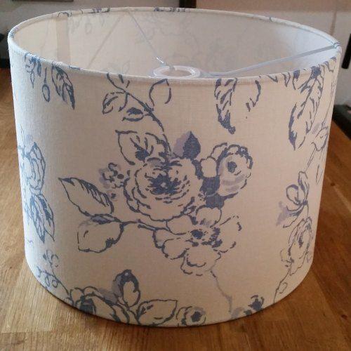 Handmade Drum Lampshade - Delphine Wedgewood Fabric