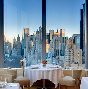 World's Most Amazing Restaurants With a View: Asiate, New York City Tip: For a drink, a snack or afternoon tea, try the Mandarin Oriental's 35th-floor Lobby Lounge, which also offers breathtaking views.