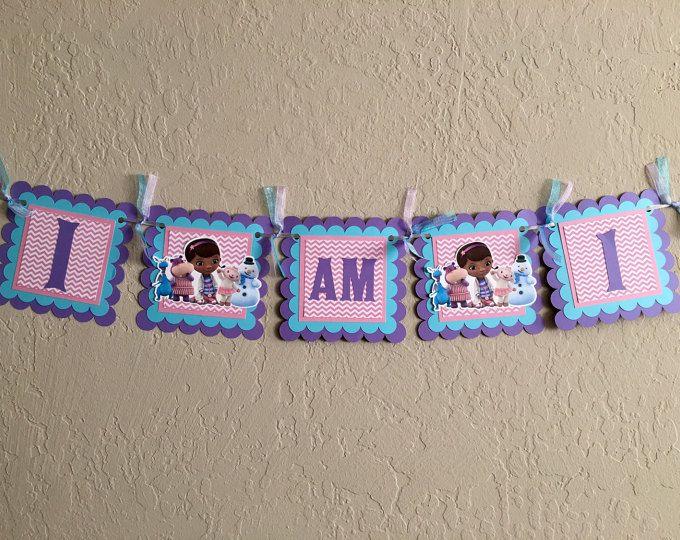 Doc McStuffins Banner, Doc McStuffins Birthday Banner, Doc McStuffins Highchair Banner, Doc McStuffins Birthday, Doc McStuffins