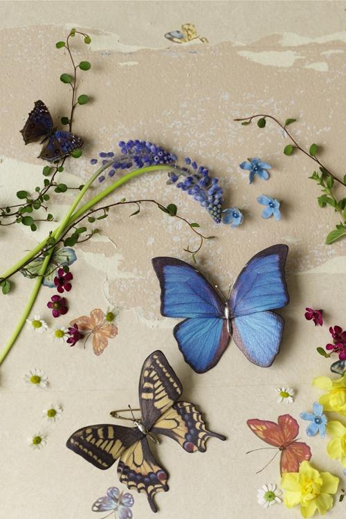 BHLDN Butterfly Kiss Brooch, $390.00 #flowers #butterflies #brooch #accessories #BHLDN