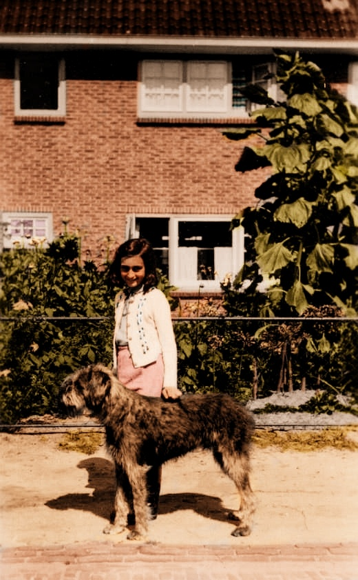Anne Frank with Dopy by Color-Her-World.deviantart.com on @deviantART More