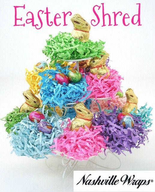 115 best easter ideas we love images on pinterest cellos colorful easter shred from nashville wraps made in the usa eco friendly negle Images