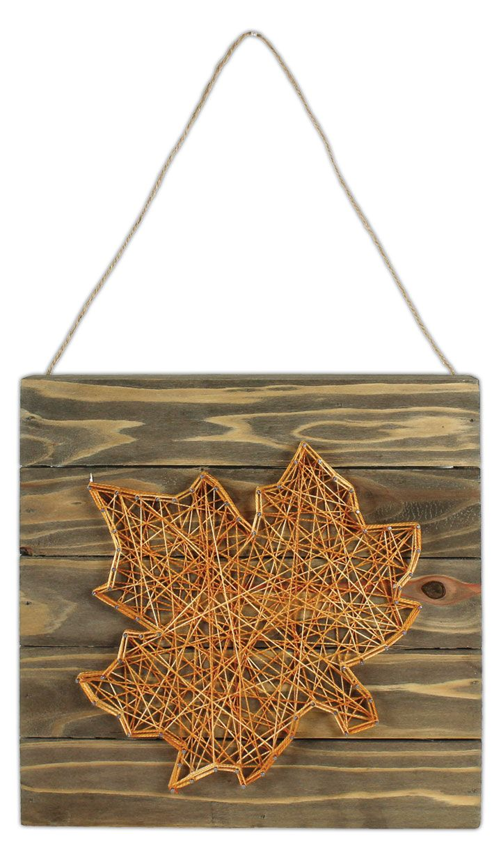 Leaf String Art Pallet - Click through for project instructions.