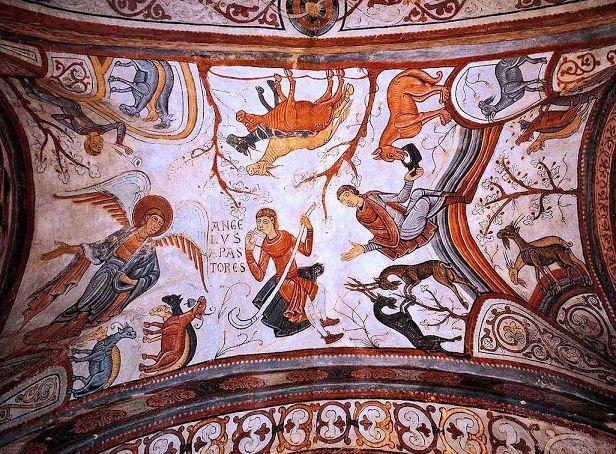 SAN ISIDRO DE LEÓN. Pinturas panteón. Siglo XII.