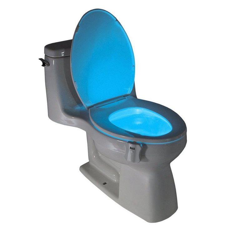 8 colores tazón baño lámpara de luz nocturna led luz human motion sensor automático de asiento del inodoro