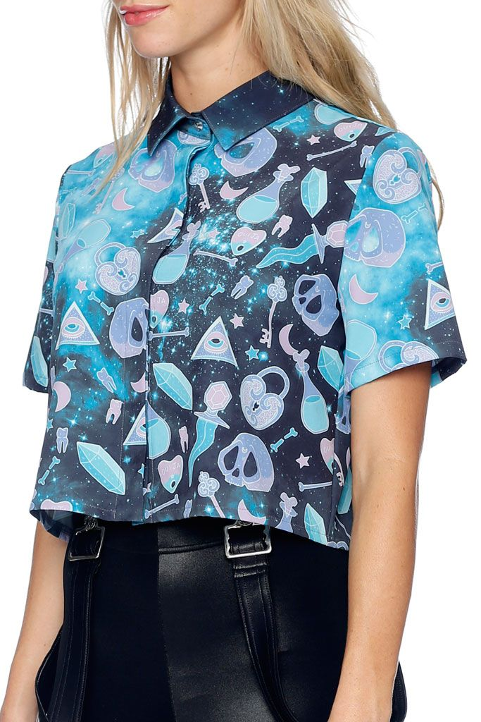 Voodoo Galaxy Boss Shirt - LIMITED (AU $80AUD) by BlackMilk Clothing