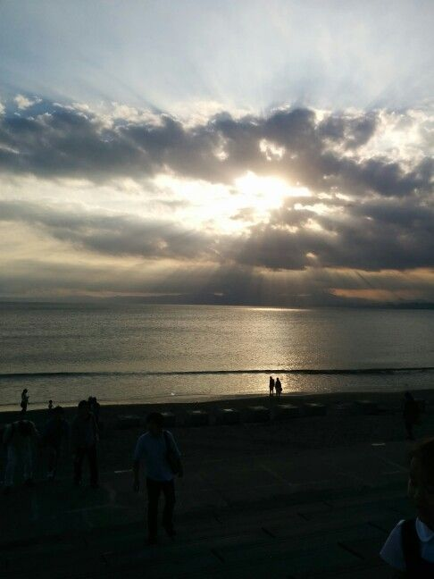 에노시마 해변의 석양