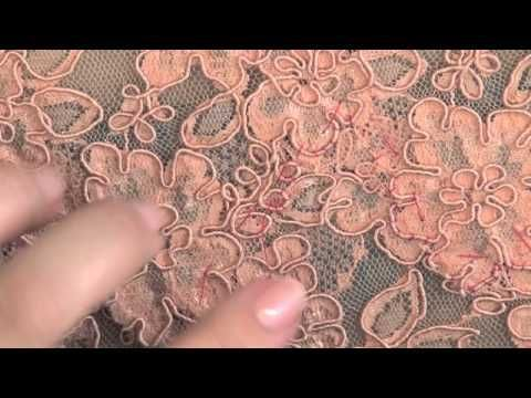 Sewing: How to make a lace overlap seam - YouTube
