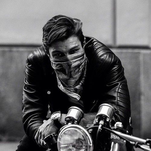 Motorcycle, bandana. Style