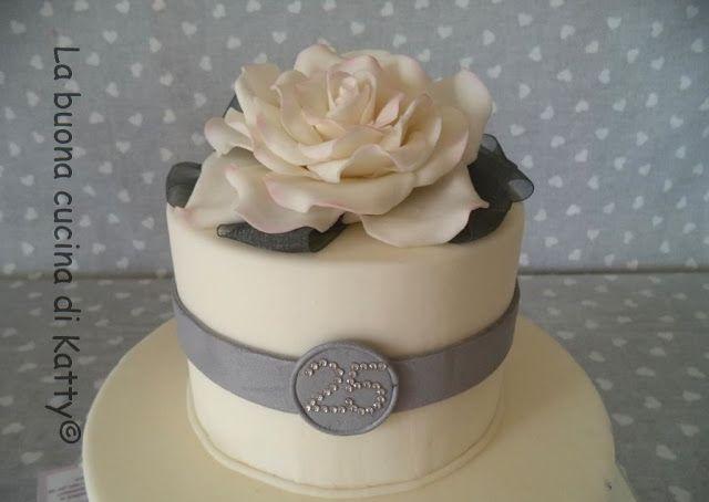 La buona cucina di Katty: Torta nozze d'argento - Silver wedding cake