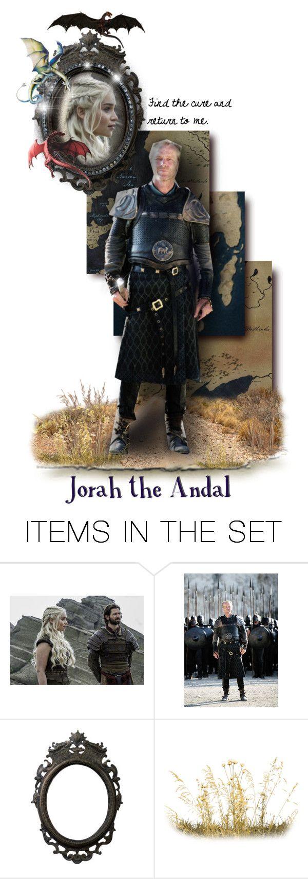"""Jorah the Andal"" by annette-heathen ❤ liked on Polyvore featuring art, GameOfThrones, housetargaryen, jorahmormont and GOTDolls"