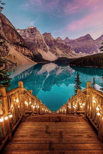 romantic honeymoon destinations moraine lake alberta canada