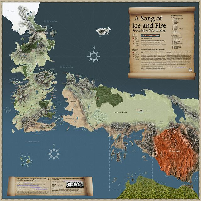 Game of Thrones speculative_map | Flickr - Photo Sharing!