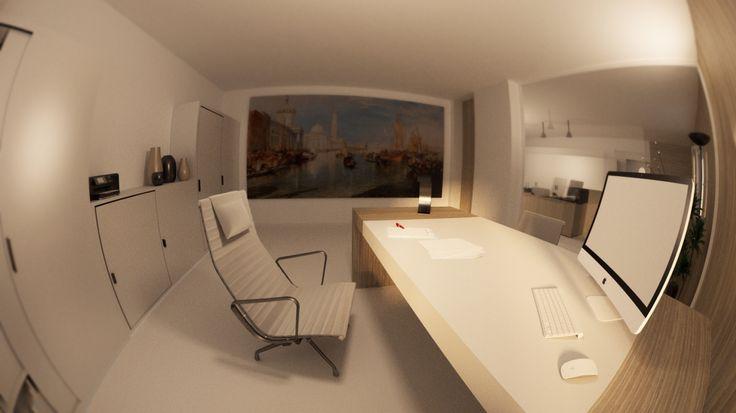 Office interior design  Minimal modern style Workplace