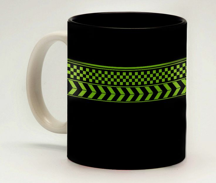 Black Abstract Mug - Make a sharp statement with this beautiful black geometric design in that is subtle enough to match almost everything, but bold enough to be noticed.Looking for a unique gift for a co-worker? Just fill a mug with some chocolates and stationery items and place it on your co-worker's desk. An instant hit!