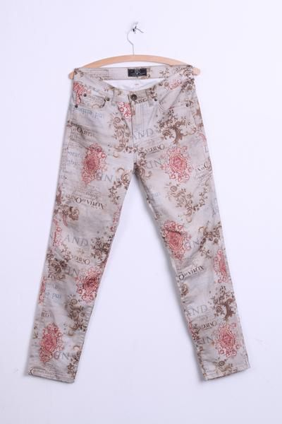 Jeans By Bessie Womens Trousers W28 L30 Beige Italy Cotton Retro - RetrospectClothes