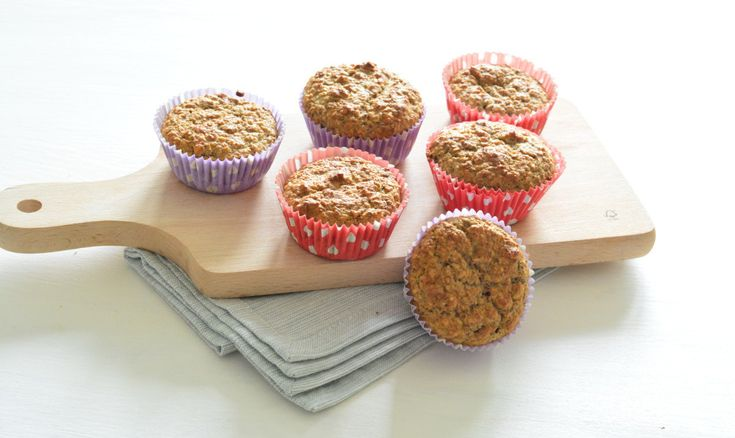 Healthy muffins met banaan