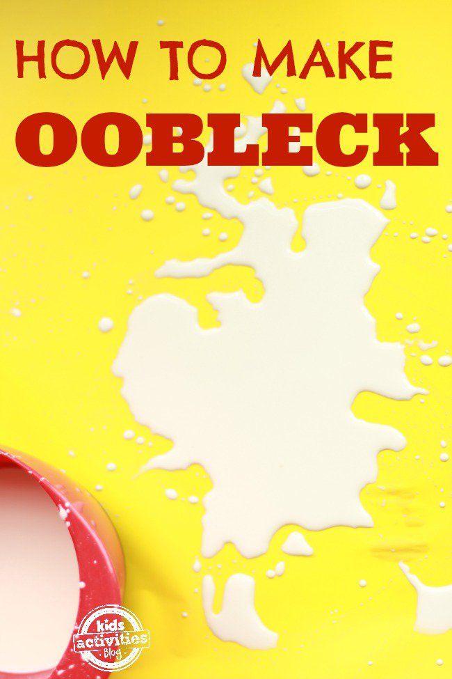 Make Oobleck! A Non-Newtonian Fluid