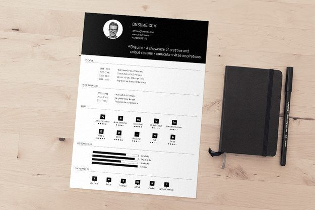 A strong header will — BOOM — draw the eye right to the top of the page.   21 Free Résumé Designs Every Job Hunter Needs