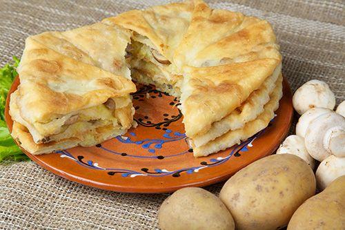 Plăcinte cu ciuperci şi cartofi - Paste făinoase şi produse de patiserie