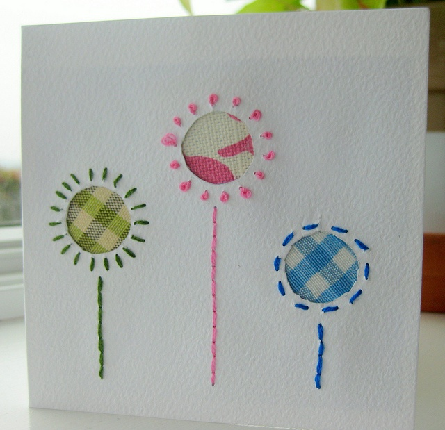 Hand stitched card